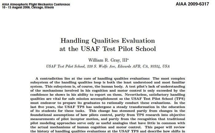 Handling Qualities Evaluation