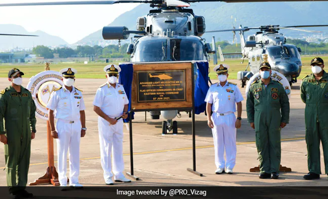 Navy Inducts 3 Indigenously-Built Advanced Light Helicopters