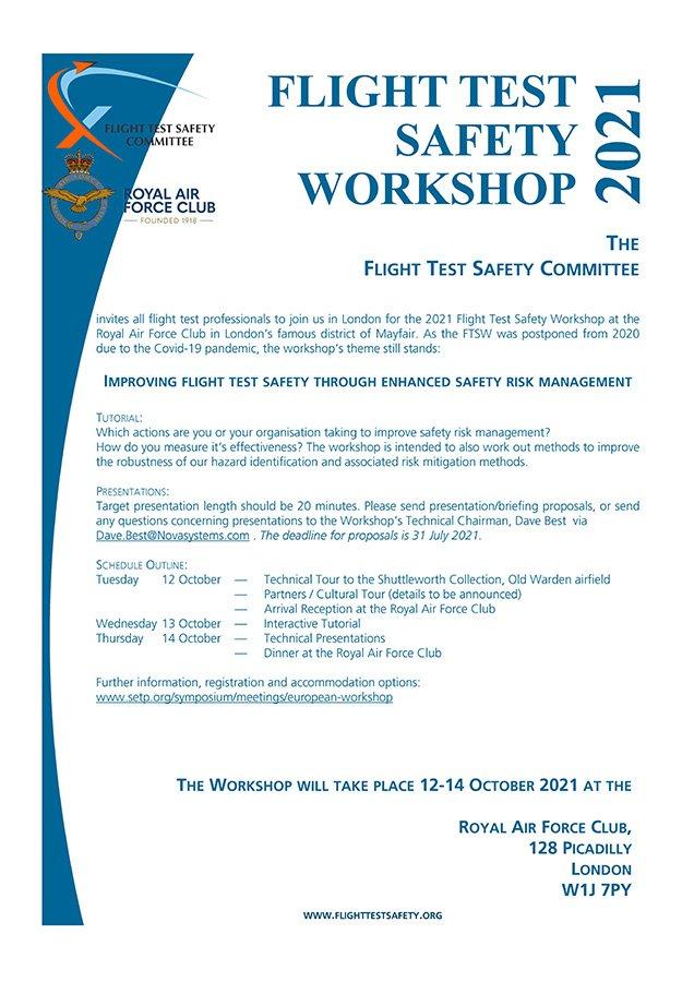 2021 European Flight Test Safety Workshop